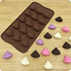 Always Your Chef Spoof Poop Emoji Shaped Silicone Candy/Chocolate Making Molds DIY Molds, MINI Molds for Making Jello,Random Color