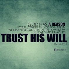 Trust in the one who loves us.