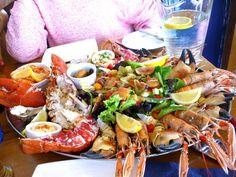 "La mariscada del ""The Seefood Temple"" en Oban, Escocia"