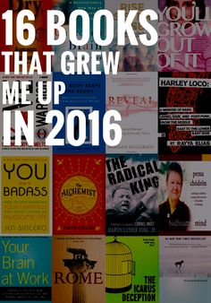 I started this blog post because I was looking for a super-easy way to talk  about books and also pay a little homage to the year 2016. I blocked four  hours on my calendar and gave myself one morning to write it. And then five  days, eighteen hours, and thirteen gray hairs later, I've come up wi