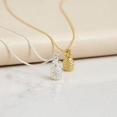 Mini Pineapple Necklace - summer jewellery