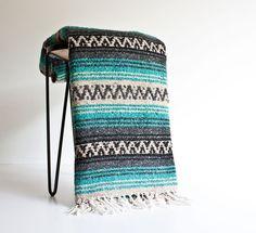 Vintage Mexican Blanket Serape by kibster on Etsy
