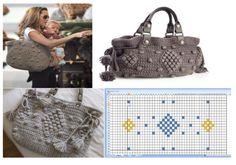 Bolsa Angelina Jolie.Eva Longaria combinando vestido e bolsa de crochê.Entrem nos atalhos e vejam outros gráficos