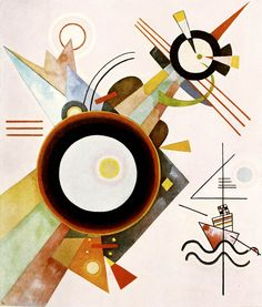 Bild mit Pfeilform (1923), Wassily Kandinsky, #abstract #geometric #art