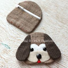 Free sewing pattern to make cute Beagle inspired Dog Key Pouch, Key Cozy, Key Holder. Template & detailed instructions includes step by step photos for easy understanding.