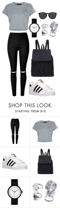 """""""#66"""" by lucilarpin on Polyvore featuring moda, New Look, adidas y Yves Saint Laurent"""