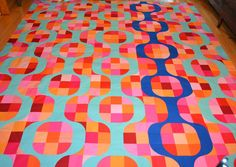 Mod Pop Top done! by shecanquilt Drunkards Path Quilt, Quilting Projects, Quilting Ideas, Rag Quilt, Baby Quilts, Color Inspiration, Quilt Patterns, Arts And Crafts, Scrappy Quilts