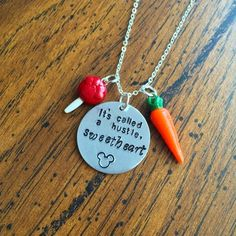 It's Called A Hustle Sweetheart Disney Zootopia Inspired Necklace Geekery Handmade SHIPS FROM USA  You will receive one handmade necklace with the Judy Hopps and Nick Wilde quote, It's called a hustle, sweetheart from Disney's Zootopia. Charms are hand sculpted and painted from polymer clay and sea
