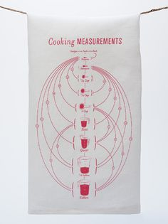 Pop Chart Lab --> Design + Data = Delight --> Cooking Measurements Tea Towel