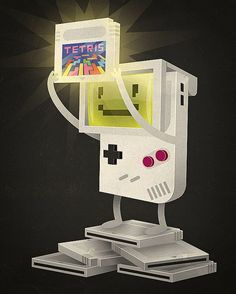 the mighty Tetris #videogames #illustration #geeky