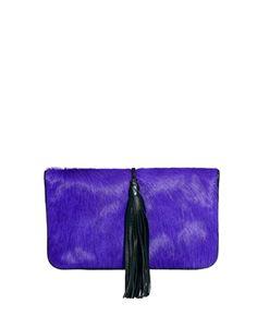 Urbancode Cobalt & Black Clutch Bag With Tassle