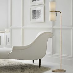 Jaw-Dropping Cool Tips: Minimalist Interior Ideas Life minimalist home diy style.Minimalist Home Diy Tips minimalist bedroom lighting window.Minimalist Home Office Space. Best White Paint, White Paint Colors, White Paints, Brass Floor Lamp, Modern Floor Lamps, Minimalist Bedroom, Minimalist Decor, Minimalist Kitchen, Minimalist Interior