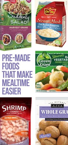8 pre-made meals to make your meal prepping FAST!