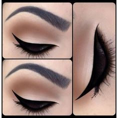 How to Apply Eye Liner Flawlessly ❤ liked on Polyvore featuring beauty products, makeup, eye makeup, eyeliner, eyes, beauty and make