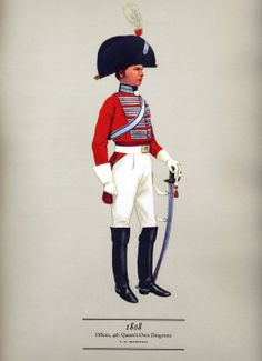 Hugh Evelyn - Cavalry Uniforms of the British Officer 4th Queen's Own Dragoons 1808
