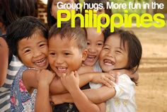 GROUP HUGS. More FUN in the Philippines!