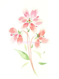 Flower flower print giclee art giclee Watercolor print by ChiFungW