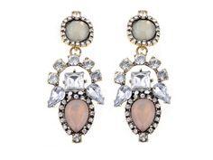 Damskie Kolczyki krople Drop gem cyrkonie Crystal Resin, Resin Flowers, New Fashion, Dangle Earrings, Bracelet Watch, Hot, Brooch, Jewels, Crystals