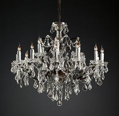 Dear Restoration Hardware: I want this chandelier in every room of my house, so I am gonna need for you to come down in the price a grand or so. Round Chandelier, Chandelier Lighting, Bathroom Chandelier, Crystal Chandeliers, Glass Chandelier, Estilo Tribal, Rococo, Restoration Hardware, Clear Crystal