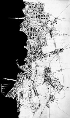 © Fabio Alessandro Fusco, Città mediterranea/Mediterranean city, 2006 [to buy… Analyse Site, Urbane Analyse, Urban Mapping, Map Design, City Maps, Monochrom, Architecture Drawings, Art Journal Pages, Mosaic Art