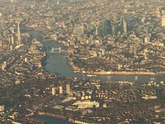 Descending over London en route to Heathrow #london #england #britain…