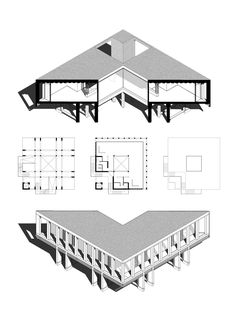 Since 1998 the Web Atlas of Contemporary Architecture Architecture Concept Drawings, Architecture Graphics, Architecture Visualization, Architecture Portfolio, Architecture Details, Sustainable Architecture, Contemporary Architecture, Axonometric Drawing, Planer Layout