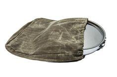 Waxed Canvas Skillet Bag with Drawstring