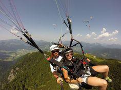 Kaiserwinkl-Tandem-Sprung-Gleitschirm-Flug-Koessen-Tirol-NOG_passagier Tandem, Parapente (paragliding), Birds Eye View, Tandem Bikes, Tandem Bicycle