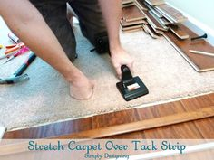 DIY how to transition from laminate flooring to carpet.