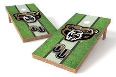Oakland University Golden Grizzlies Cornhole Board Set - Field (w/Bluetooth Speakers)
