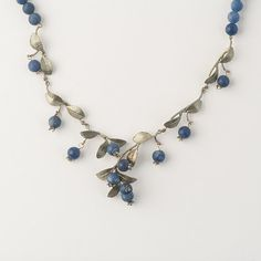 """Blueberry 16"""" Adj. Necklace by Michael Michaud for Silver Seasons"""