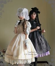 Model Show (Right: hat: P00546, cutsew: TP00137, gloves: P00592, birdcage petticoat: UN00019) (Left: hat: P00533, cape: CT00251, blouse: TP00060, necklace on hand: AD00282, birdcage petticoat: UN00019)