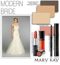 A tangerine-red lip is on trend for modern brides! Try layering Mary Kay® Creme Lipstick in Sunny Citrus with NouriShine Plus® Lip Gloss in Mango Tango for a bold bridal look.