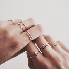 Gold jewelry – simple jewelry – stackable rings – boho jewelry – classic jewelry… - new season bijouterie Gold Jewelry Simple, Cute Jewelry, Boho Jewelry, Jewelry Accessories, Fashion Jewelry, Jewelry Ideas, Simple Necklace, Handmade Jewelry, Delicate Necklaces
