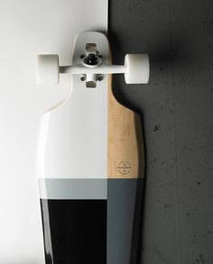 Grey, black & white skateboard