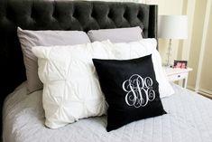 Make an adorable Iron-On Glitter Monogram Pillow with the Cricut Explore Air!!!
