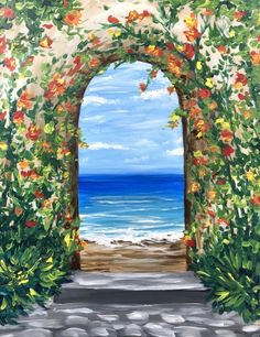 Join us for a Paint Nite event Fri Jun 2018 at Lower Queen Anne, 1445 Elliott Avenue West Seattle, WA. Purchase your tickets online to reserve a fun night Spring Painting, Diy Painting, Kanvas Art, Watercolor Illustration, Watercolor Art, African American Museum, Ocean Wallpaper, Paint And Sip, Diy Wall Art