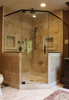 Like the shower frame - want two shower heads - like recessed shelf, perhaps just one