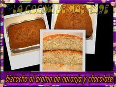 La cocina de Maetiare: Bizcocho al aroma de naranja y chocolate