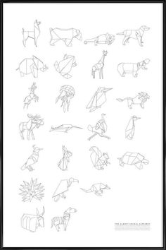 Almost Animal Alphabet en Affiche sous cadre standard   JUNIQE