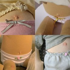 Waldorf dolls belly buttons and undies