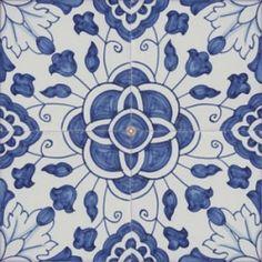 Portuguese handmade majolica tile