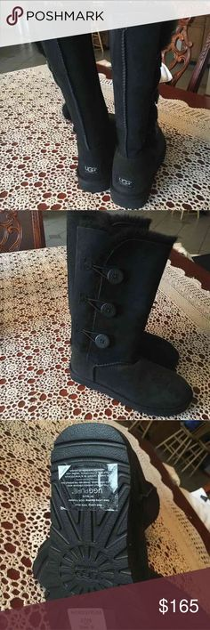 Ugg bailey triple bailey button uggs New 100% authentic uggs size 8. Last pic was taken from a qr reader from tag inside boot. More pics available upon request. UGG Shoes Winter & Rain Boots