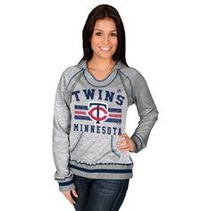 Majestic Minnesota Twins Women's All-Time Slugger Pullover Hoodie - Steel