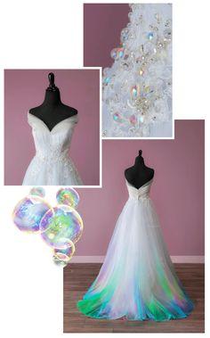 Canvas Bridal by TaylorAnnArt Stunning Dresses, Beautiful Gowns, Pretty Dresses, Rainbow Wedding Dress, Colored Wedding Dresses, Custom Wedding Dress, Wedding Gowns, Bridal Alterations, Fantasy Dress
