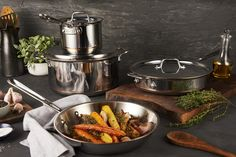 View All-Clad cookware, bakeware, electrics and kitchen utensils. All-Clad Made in the USA bonded cookware. Lasagna Pan, Pan Set, Utensil Set, Cookware Set, Roasting Pan, Black Friday Deals, Casserole Dishes, Soups And Stews, New Kitchen