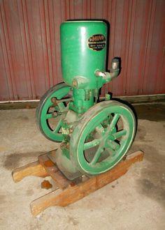 Nice restored 3hp upright Novo hit & miss gas engine farm steam L@@K!!!!