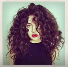 Charli XCX and Lorde have inspired me to grow out (and embrace) my ginormous hair :)