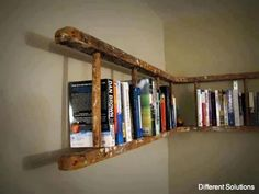 Ladder bookshelf-for gardening books in potting shed?