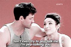 Maks and Meryl:  pep talk 2